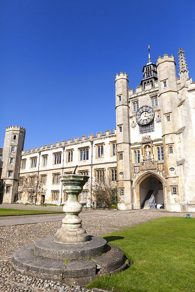 The Great Court, Trinity College, Cambridge, Cambridgeshire, England, United Kingdom, Europe