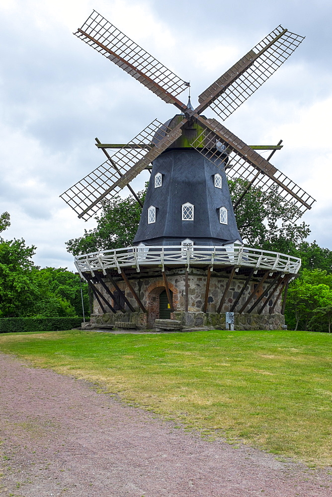 Traditional Swedish windmill, Malmo, Sweden, Scandinavia, Europe - 10-398