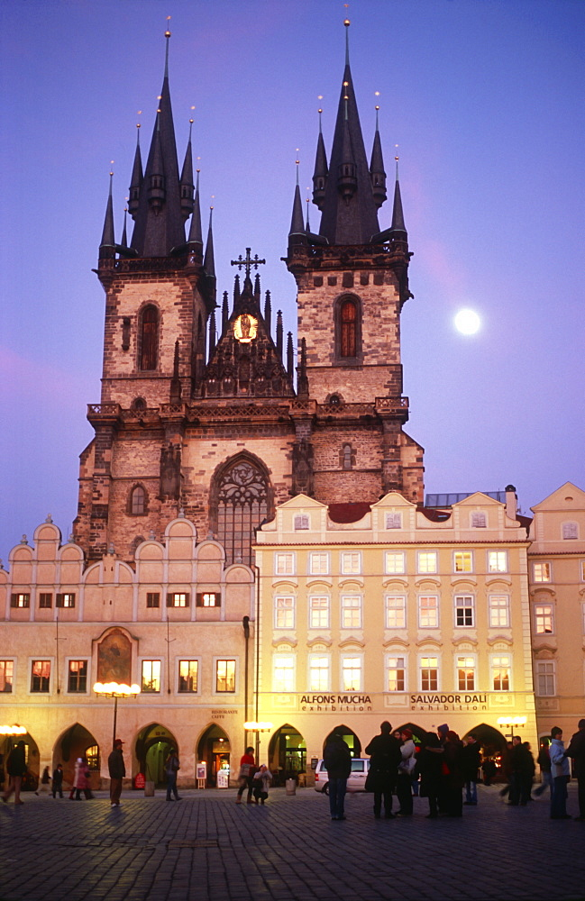 Church of Our Lady before Tyn at dusk, Prague, Czech Republic - 1024-266