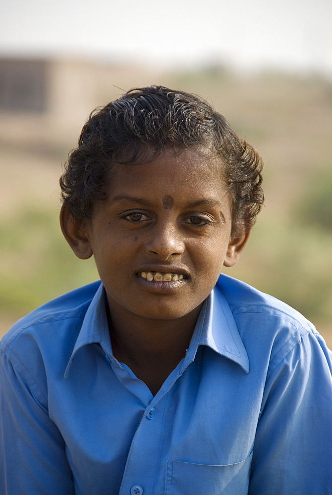 Local boy from the rural village of Keechen, Rajasthan, India - 1024-322