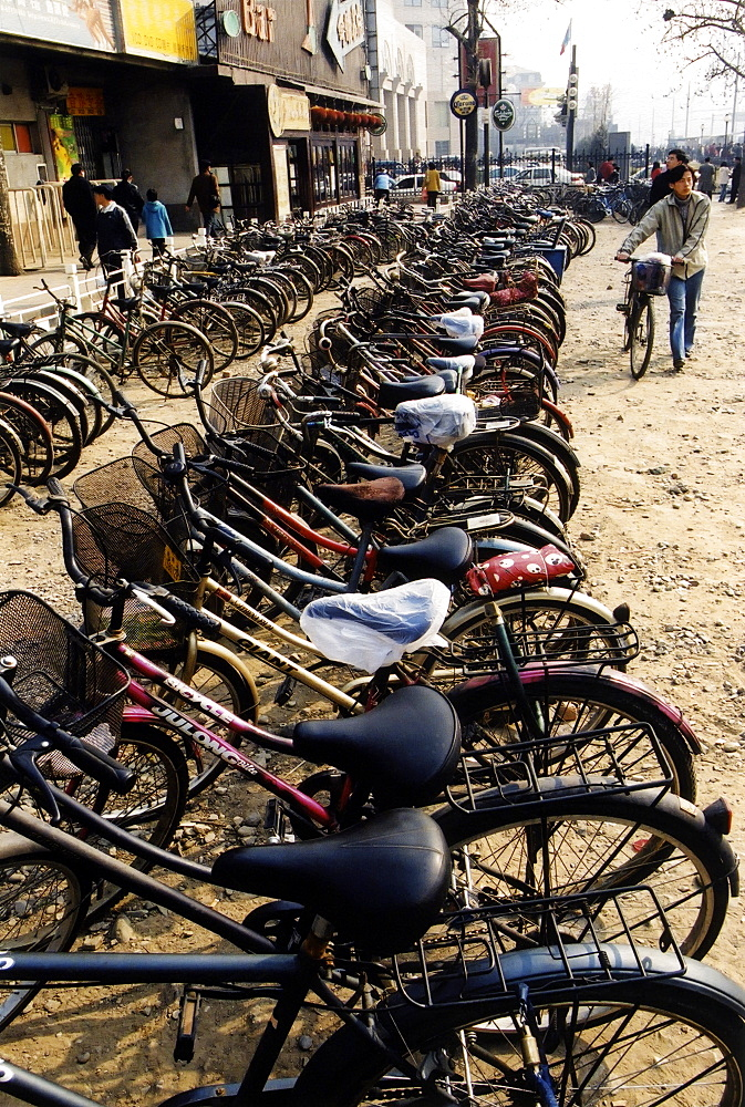 Bicycle Parking, Beijing Parking Lot, Beijing, China