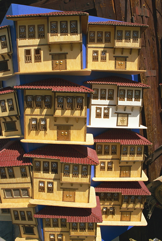 Model wooden houses of Ottoman mansions, Safranbolu, Anatolia, Turkey, Asia Minor, Eurasia - 110-20545