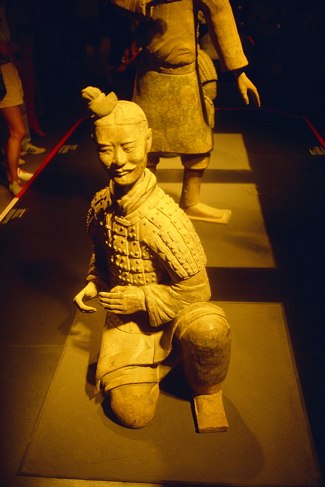 Terracotta figure from Xian in China on display at the Auckland museum in New Zealand, Pacific