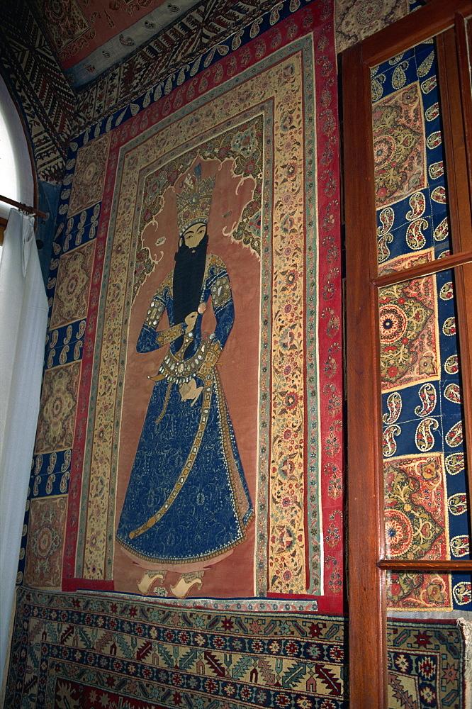 Interior tapestry, Alupka Palace, Yalta, Crimea, Ukraine, Europe