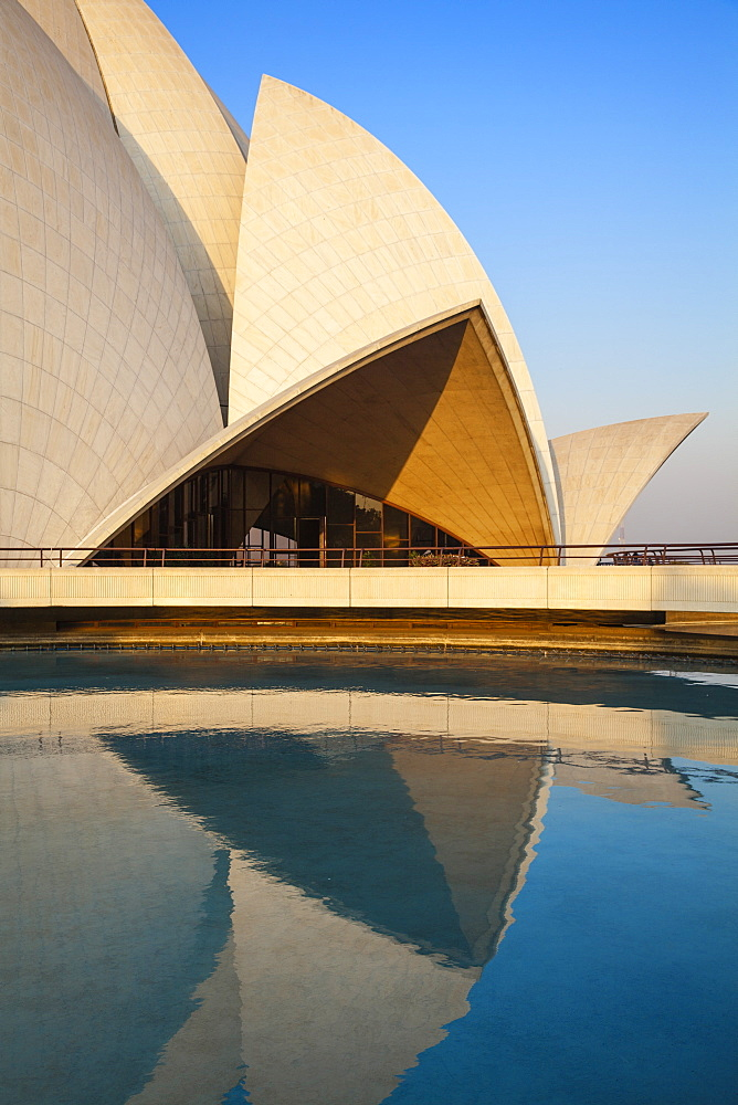 Bahai House of Worship known as the The Lotus Temple, New Delhi, Delhi, India, Asia - 1104-1053