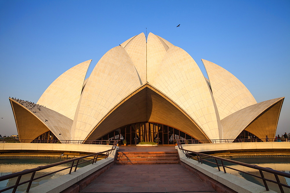 Bahai House of Worship known as the The Lotus Temple, New Delhi, Delhi, India, Asia - 1104-1054