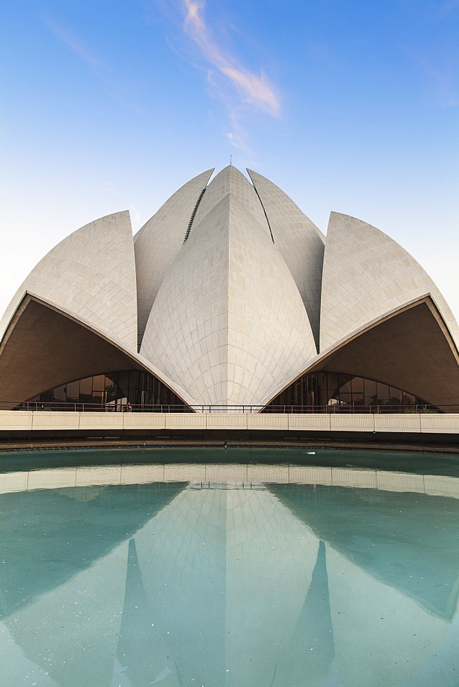 Bahai House of Worship known as the The Lotus Temple, New Delhi, Delhi, India, Asia - 1104-1055