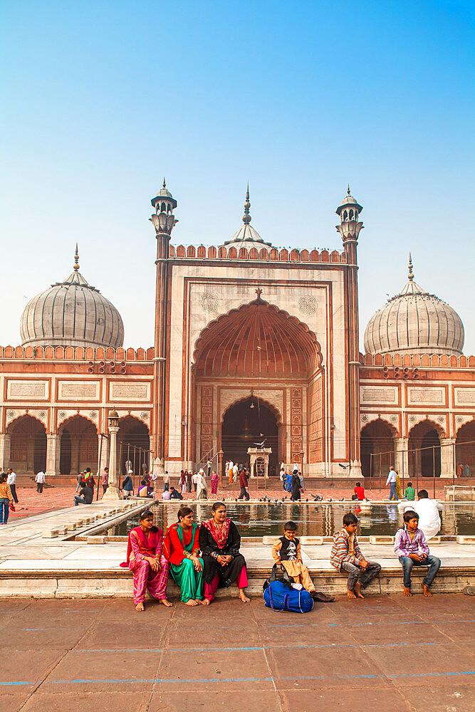 India, Delhi, New Delhi, Jama Masjid - Jama Mosque