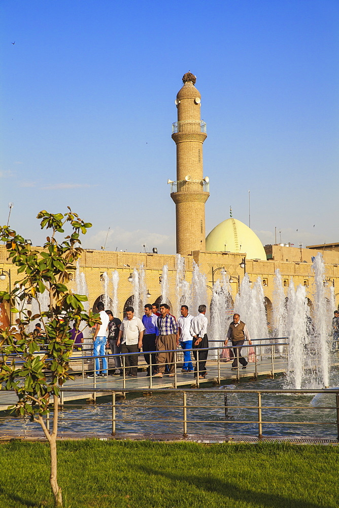 Minaret and Qaysari Bazaars, Shar Park, Erbil, Kurdistan, Iraq, Middle East