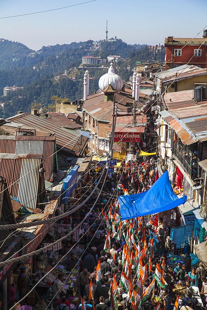 India, Himachal Pradesh, Shimla, The Mall, Lower Bazaar - 1104-1165