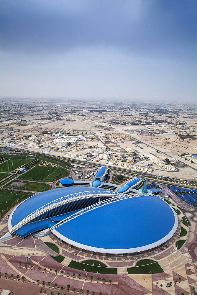 View of Aspire Sports Center, Doha, Qatar, Middle East