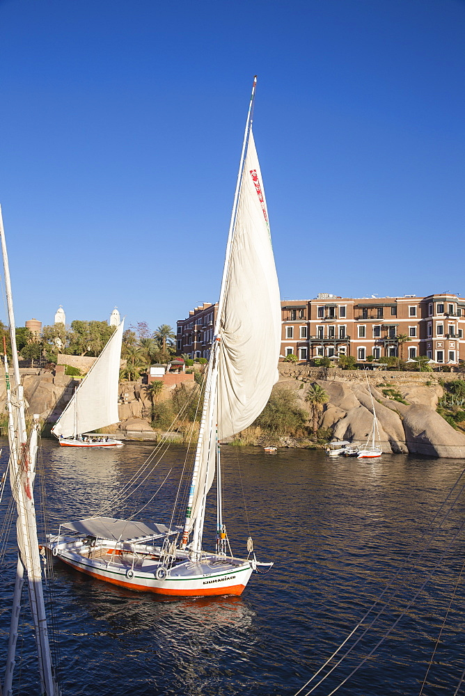 Egypt, Upper Egypt, Aswan, Sofitel Legend Old Cataract hotel situated on the banks of the river Nile - 1104-766