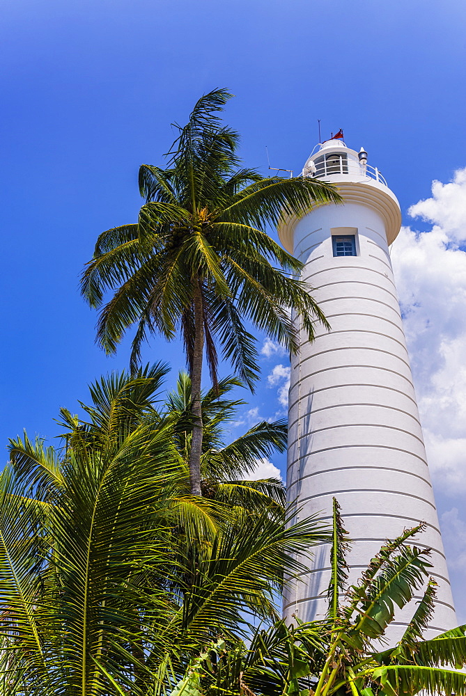 Galle lighthouse, Old Town of Galle, UNESCO World Heritage Site, Sri Lanka, Asia