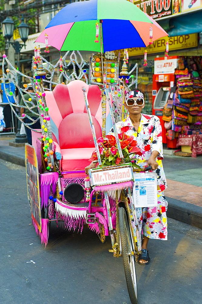 Mr. Thailand, Khaosan Road, Bangkok, Thailand, Southeast Asia, Asia
