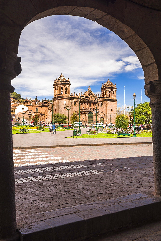 Cusco Cathedral Basilica of the Assumption of the Virgin, Plaza de Armas, UNESCO World Heritage Site, Cusco (Cuzco), Cusco Region, Peru, South America
