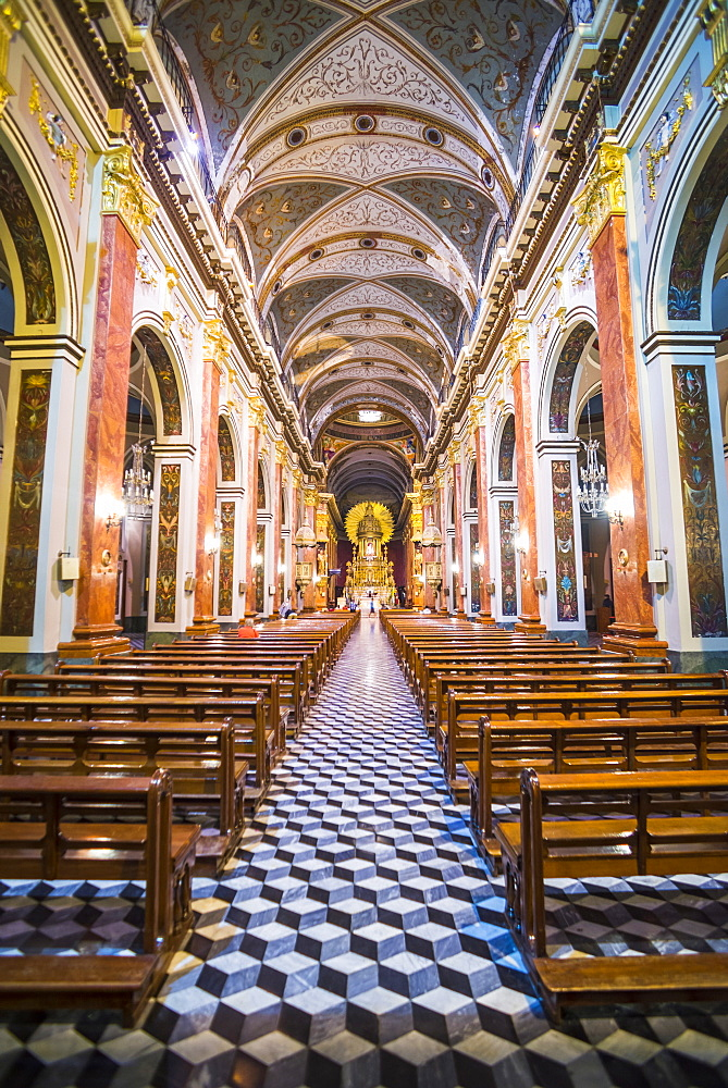 Inside Salta Cathedral, Salta, Salta Province, North Argentina, Argentina, South America