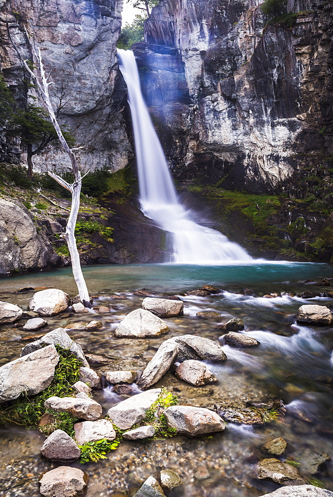 El Chorrillo waterfall (Salto El Chorrillo), El Chalten, Patagonia, Argentina, South America