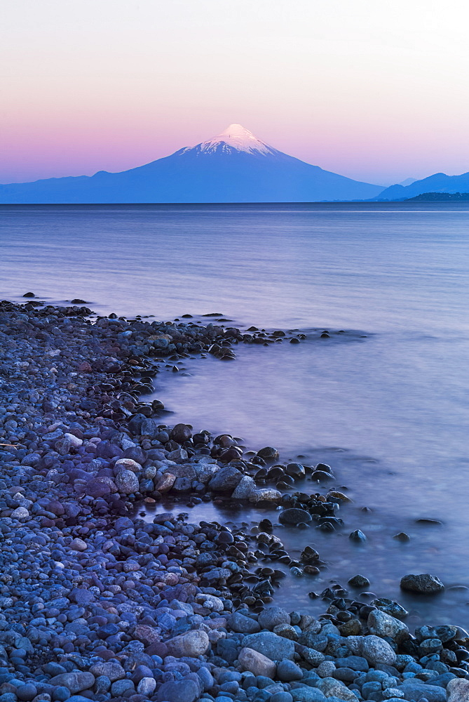 Osorno Volcano (Volcan Osorno) and Llanquihue Lake, Puerto Varas, Chile Lake District, Chile, South America