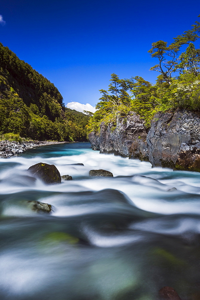 Petrohue Falls, Vicente Perez Rosales National Park, Chilean Lake District, Chile, South America