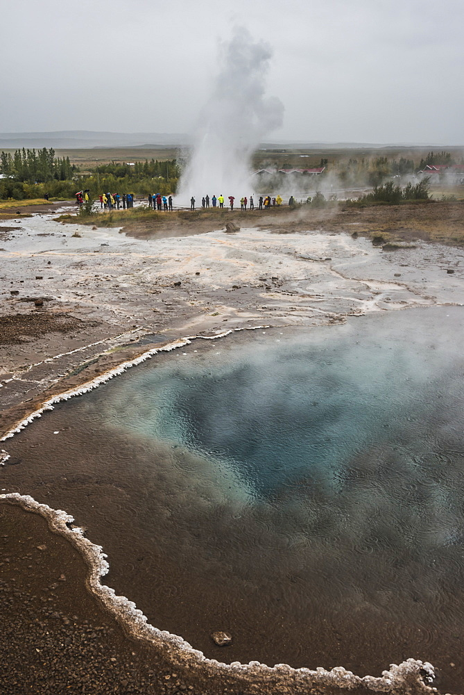 Strokkur Geyser, Geysir, The Golden Circle, Iceland, Polar Regions