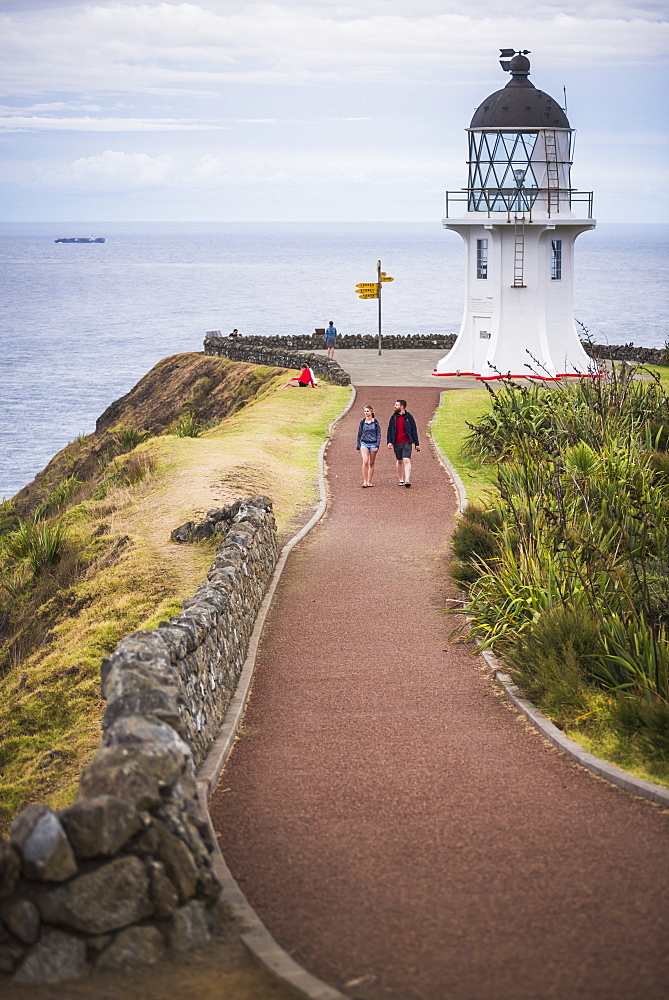 Cape Reinga Lighthouse (Te Rerenga Wairua Lighthouse), Aupouri Peninsula, Northland, New Zealand, Pacific