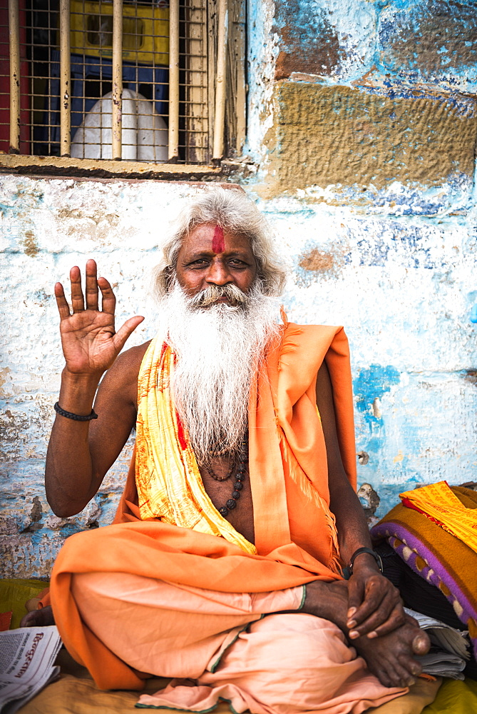 Sadhu (Indian Holy Man) in Varanasi, Uttar Pradesh, India, Asia - 1109-3172