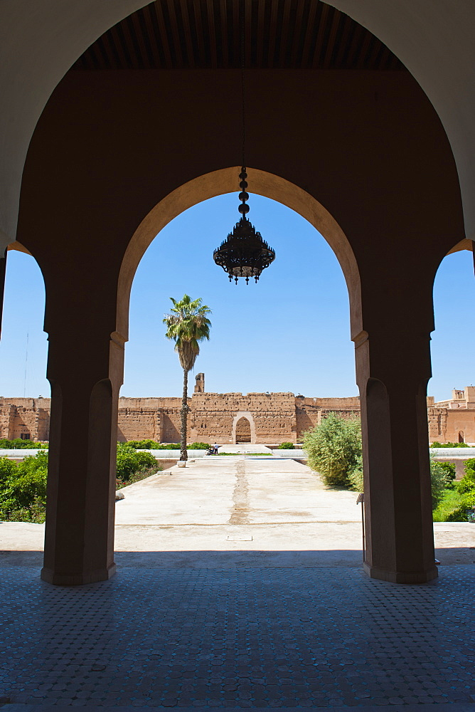 Arch at El Badi Palace, Marrakech, Morocco, North Africa, Africa