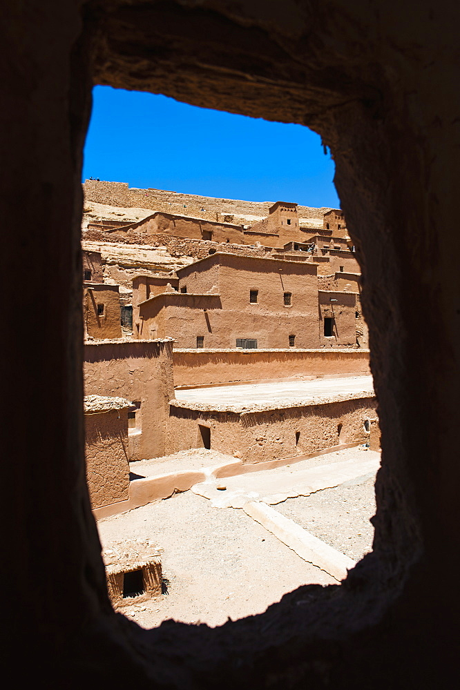 Inside Kasbah Ait Ben Haddou, UNESCO World Heritage Site, near Ouarzazate, Morocco, North Africa, Africa