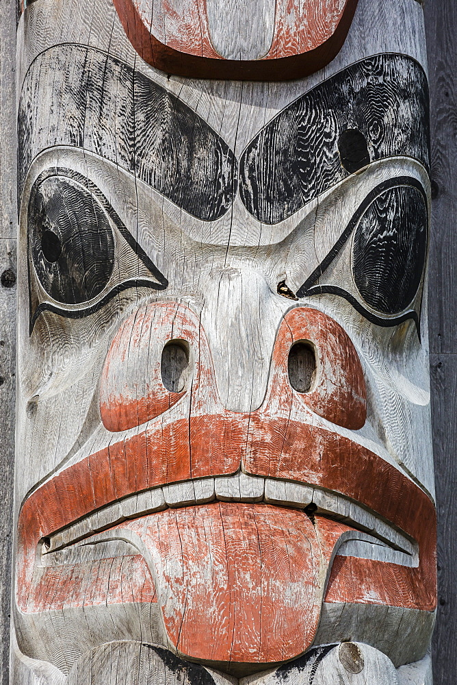 Totem pole at Gwaii Haanas National Park Reserve and Haida Heritage Site, British Columbia, Canada, North America