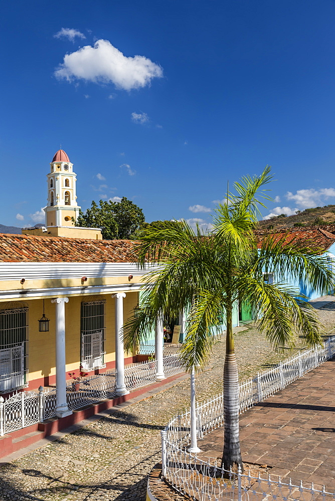 The Convento de San Francisco and Plaza Mayor, Trinidad, UNESCO World Heritage Site, Cuba, West Indies, Caribbean, Central America