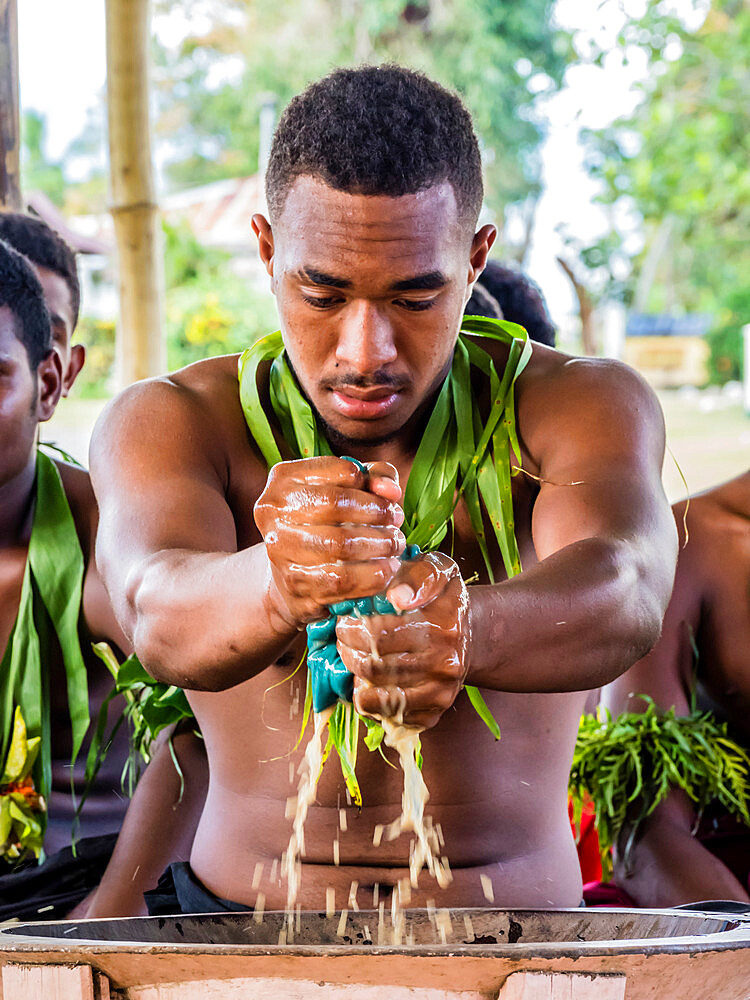 A kava ceremony from the people of Sabeto Village, Viti Levu, Republic of Fiji. - 1112-3865