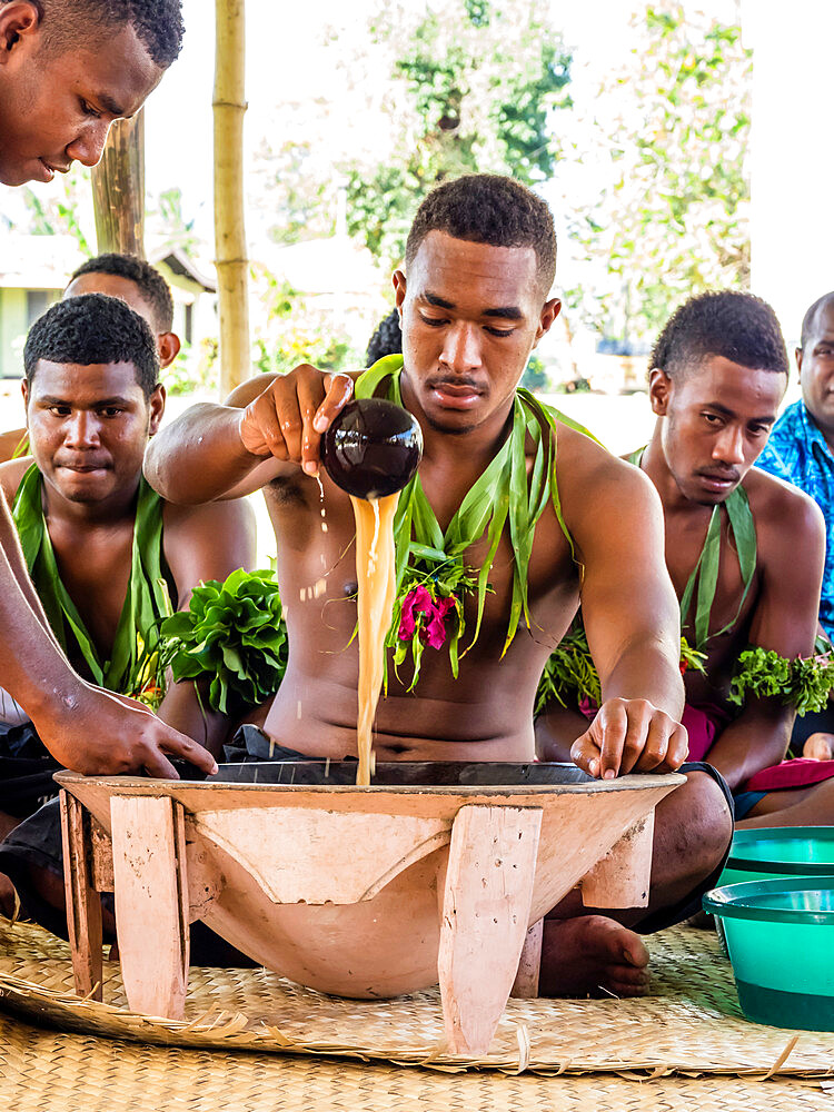 A kava ceremony from the people of Sabeto Village, Viti Levu, Republic of Fiji. - 1112-3866