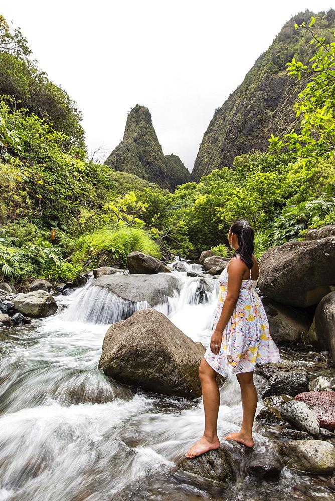 Hawaiian native, Iao Valley, Maui, Hawaii, United States of America, Pacific