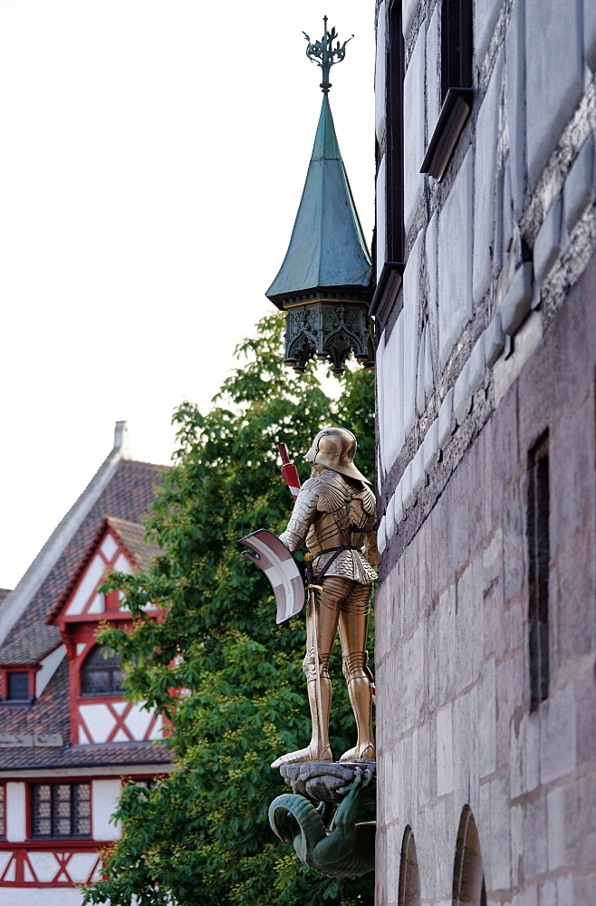 Pilatus House, Albrecht Duerer House, Place of work and home of the artist Albrecht Duerer 1471-1528, Tiergaertnertorplatz, Nuremberg, Middle Franconia, Bavaria, Germany