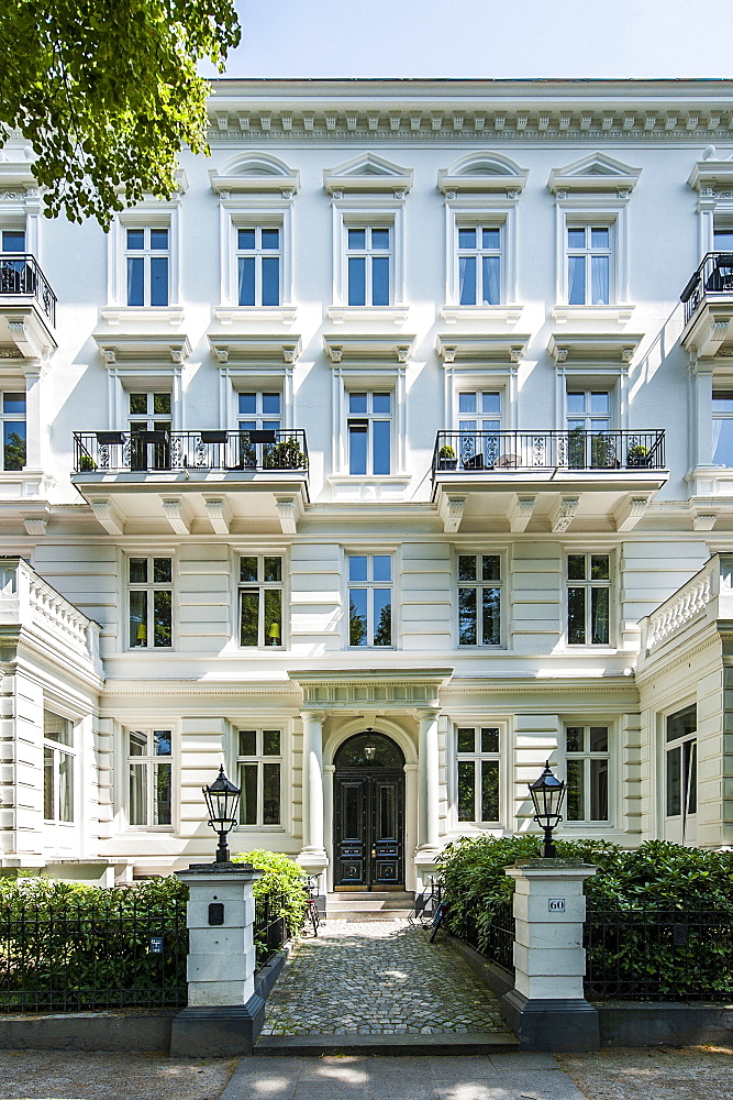 Art Nouveau building, Hamburg Rothenbaum, Germany
