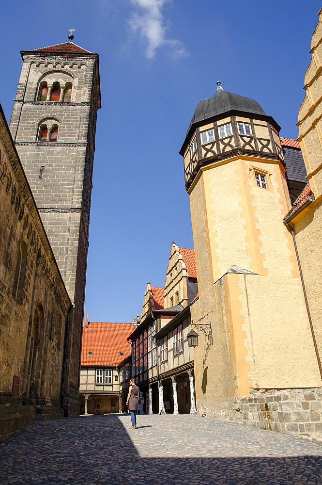 Castle and Collegiate Church of St Servatius, Quedlinburg, Harz, Saxony-Anhalt, Germany, Europe