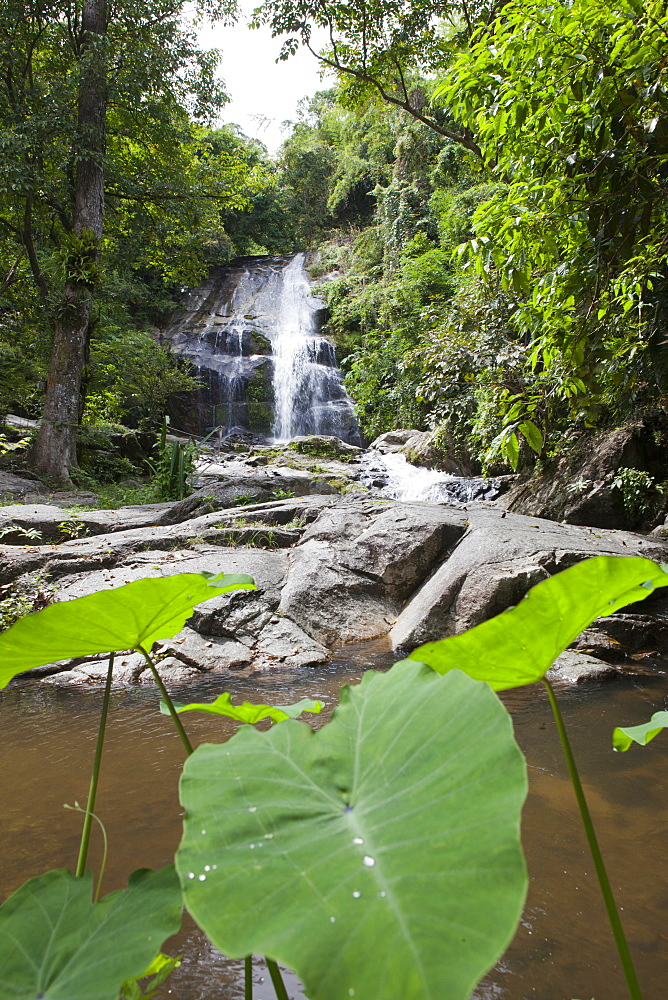 Waterfall in tropical forest, Bang Saphan, Prachuap Khiri Khan Province, Thailand, Asia