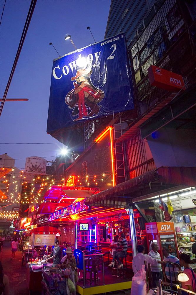 Soi Cowboy, red light district with bars, Bangkok, Thailand