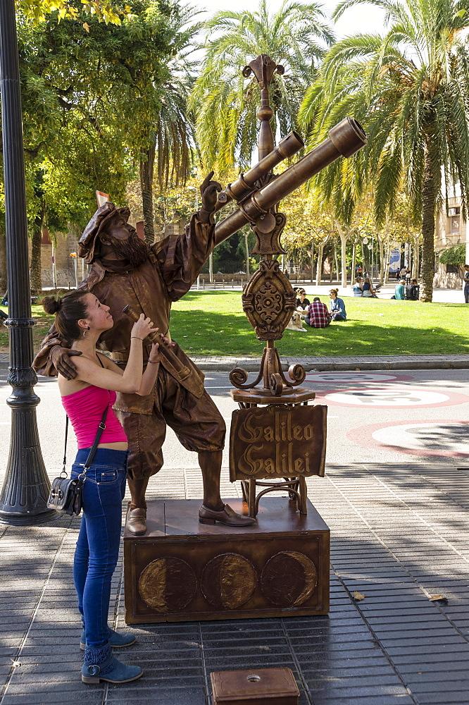 Street Artist at the Ramblas, Barcelona, Spain