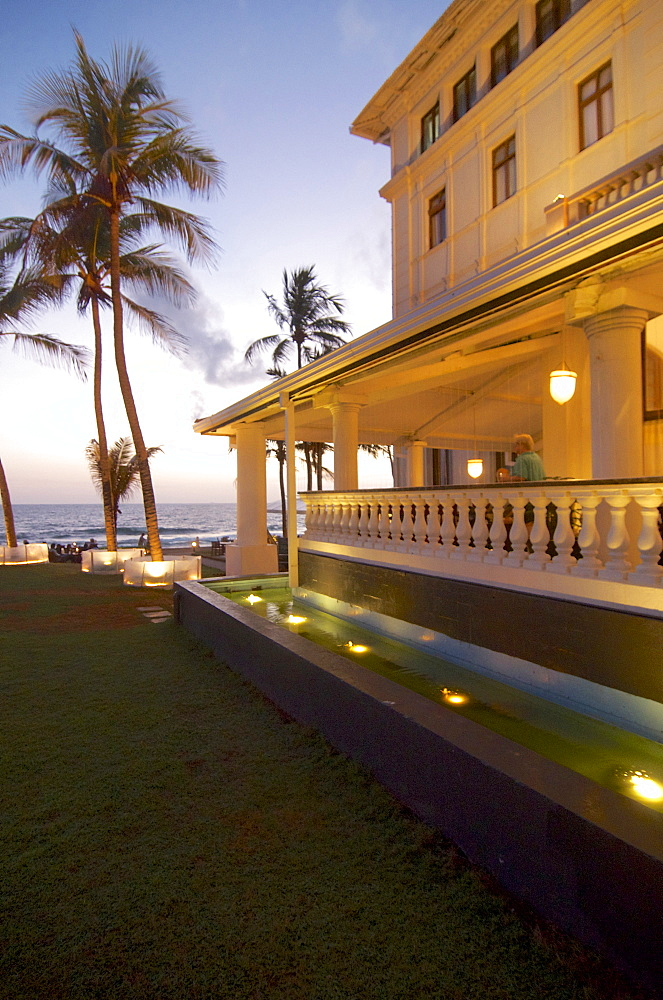 Veranda and sea view at Galle Face Hotel, Colombo, Sri Lanka