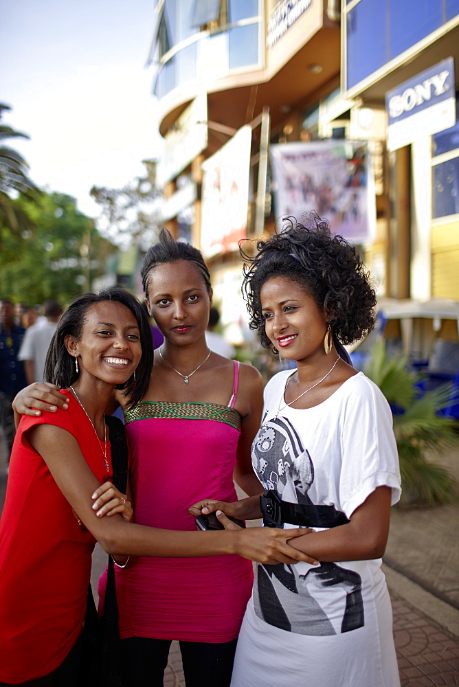 Three femal students, Bahir Dar, Amhara region, Ethiopia