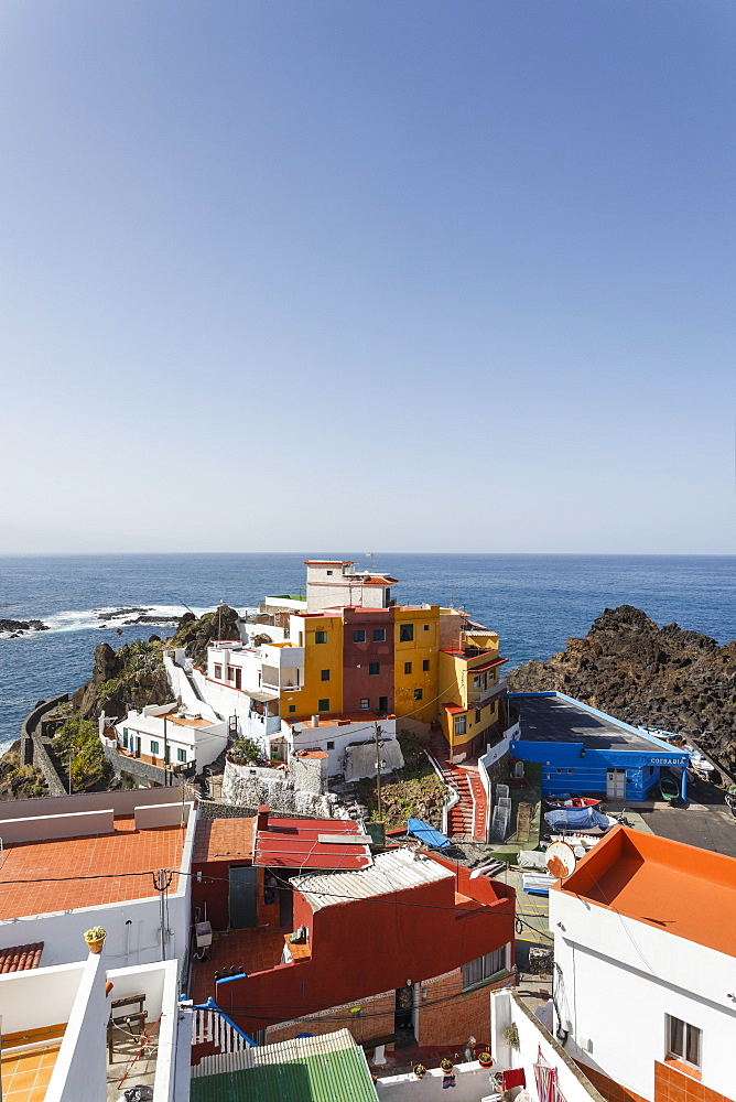 El Pris, coastal village with fishing port, Atlantic ocean, Tenerife, Canary Islands, Spain, Europe - 1113-101526