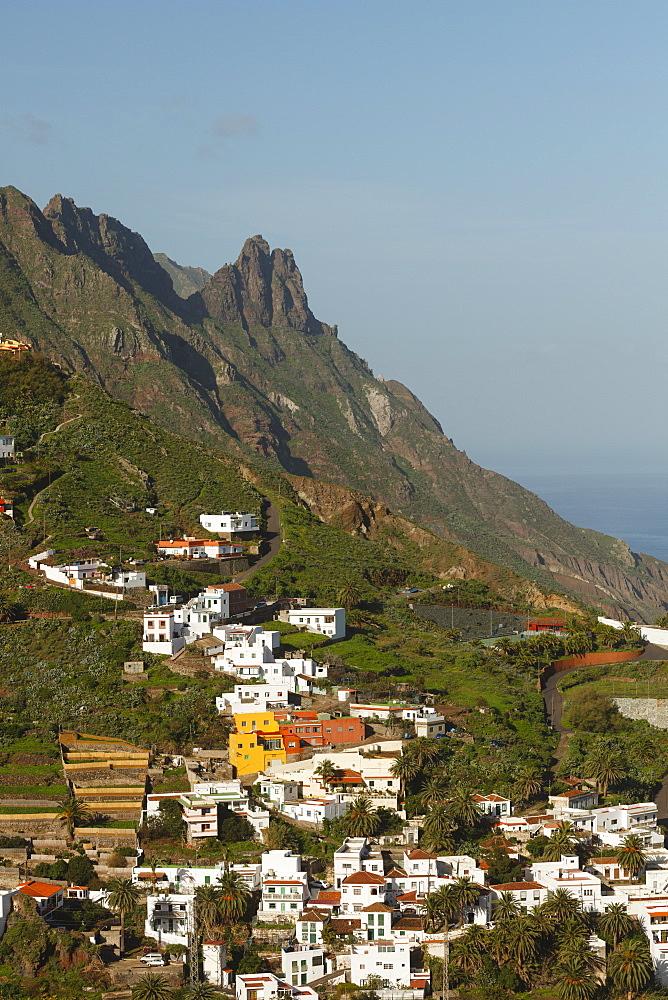 Village of Taganana, Barranco de Fajaneta, gorge, Las Montanas de Anaga, natural preserve, Parque Rural de Anaga, Tenerife, Canary Islands, Spain, Europe