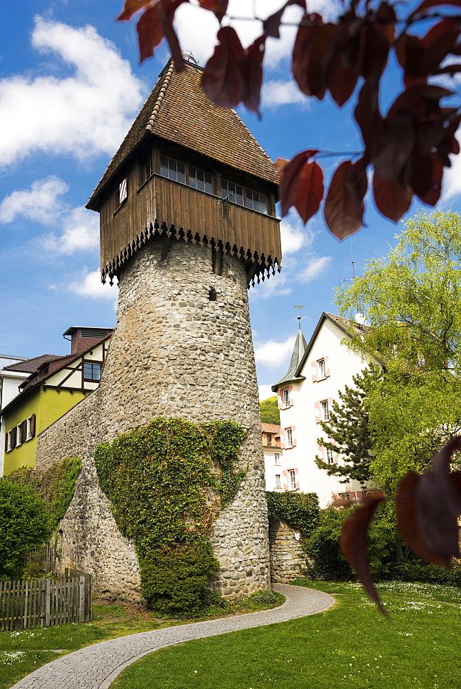 historic center with Storchenturm tower, Waldshut-Tiengen, Black Forest, Baden-Wuerttemberg, Germany