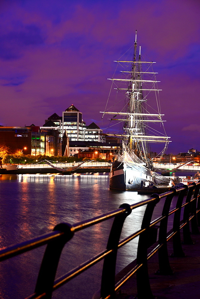 view from the Docklands over Liffey River, Dublin, Ireland