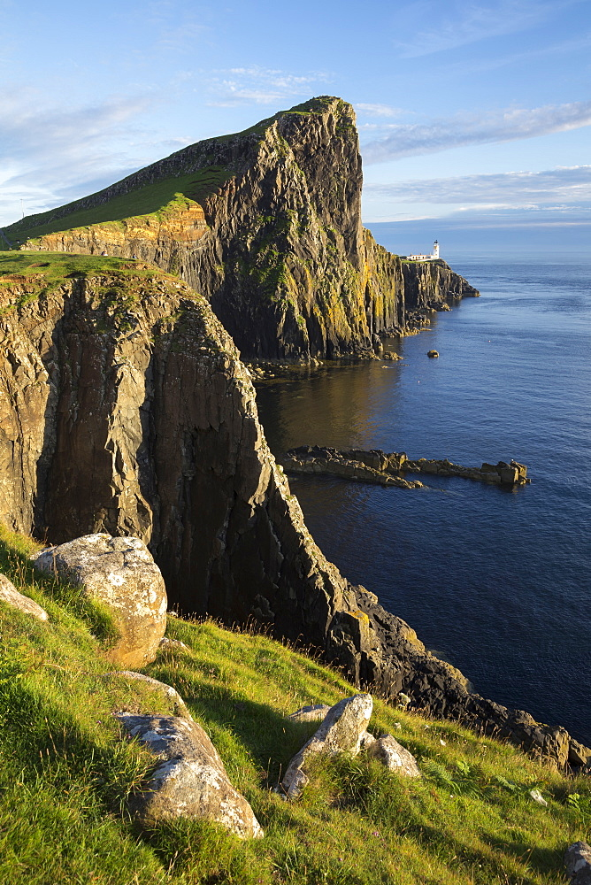 Neist Point Lighthouse, Glendale, Isle of Skye, Inner Hebrides, Highland, Scotland, United Kingdom
