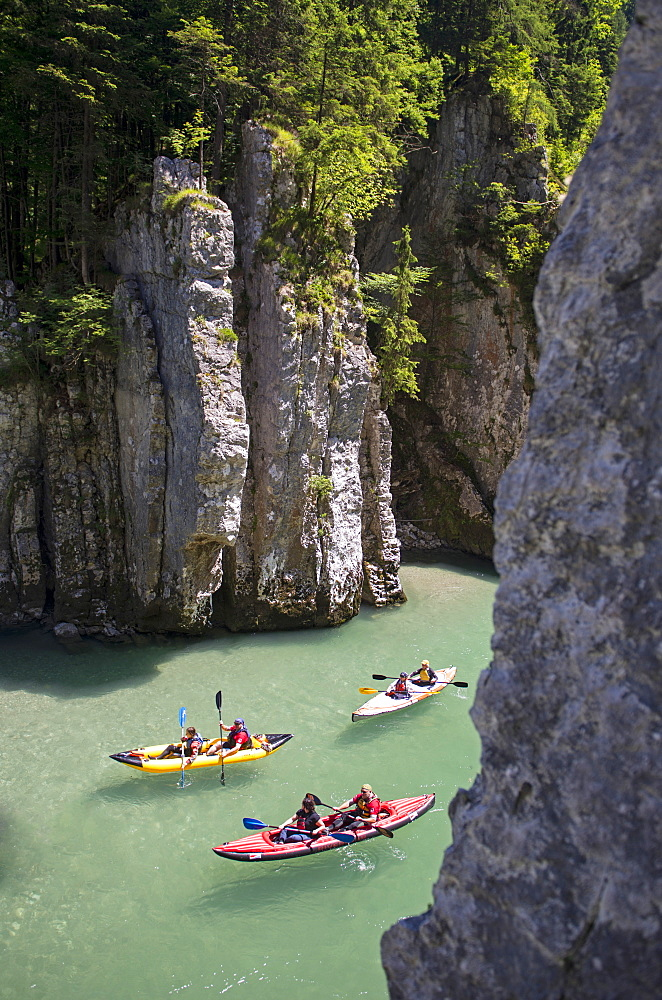 Through the Duck Hole Canyon, Koessen, Tirol, Austria, Tyrolio Ache River, Border between Austria and Germany