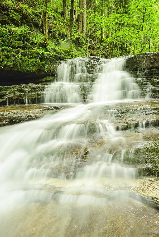 Waterfall, Taugl-Canyon, Salzkammergut, Salzburg, Austria