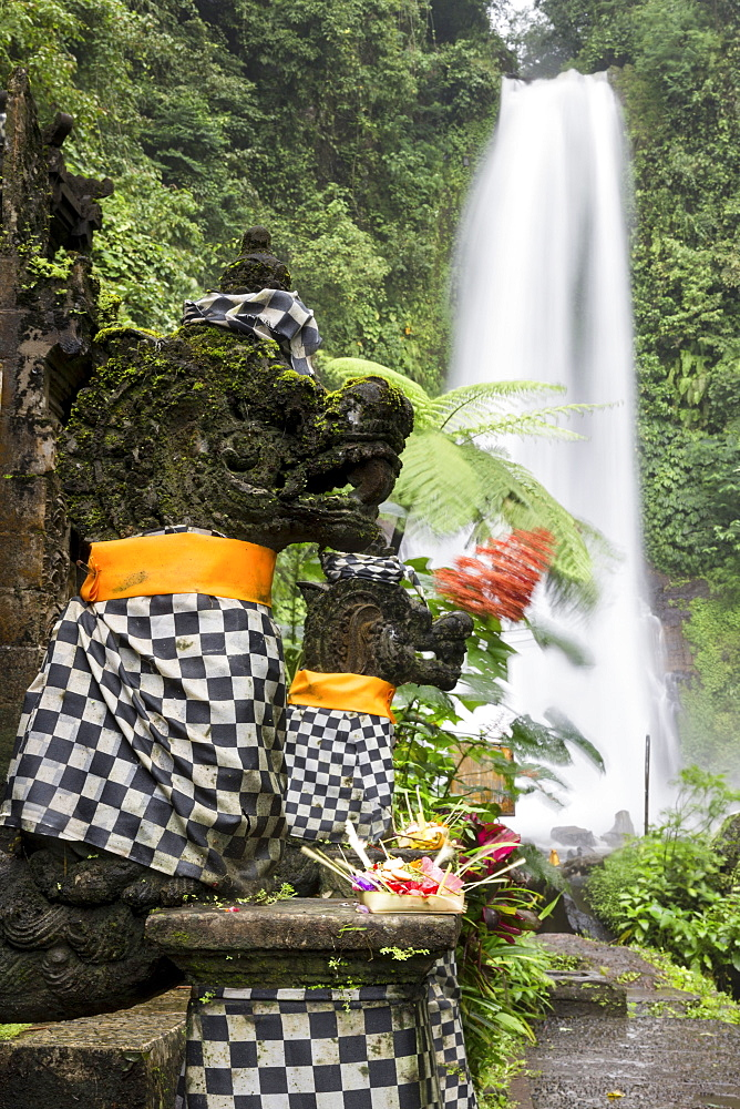 Temple near Git Git waterfall, Gitgit, Sukasada, Bali, Indonesia