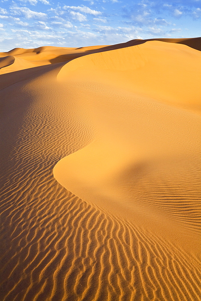 Ubari Sanddunes in the libyan desert, Sahara, Libya, North Africa